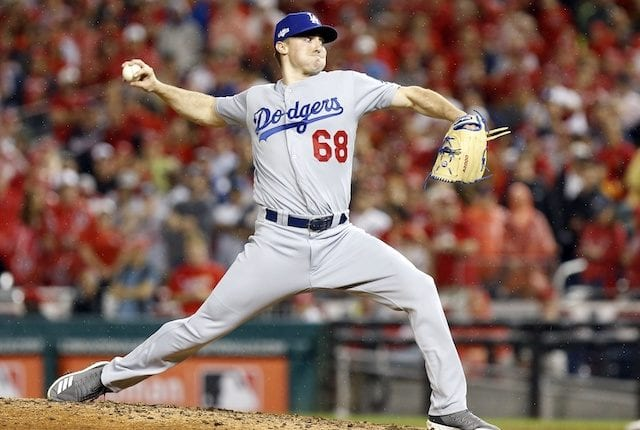 Los Angeles Dodgers pitcher Ross Stripling in Game 4 of the 2019 NLDS