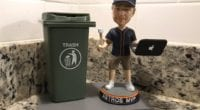 BobbleHouse designed a Houston Astros bobblehead that is inspired by their alleged sign stealing during the 2017 season