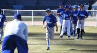 Los Angeles Dodgers winter youth camp series at Dodger Stadium