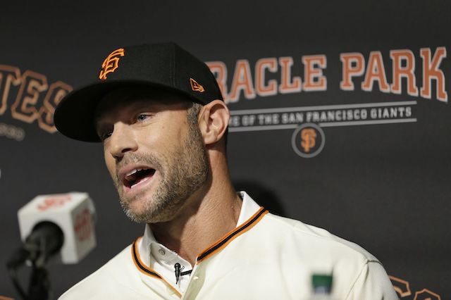 San Francisco Giants manager Gabe Kapler at his introductory press conference