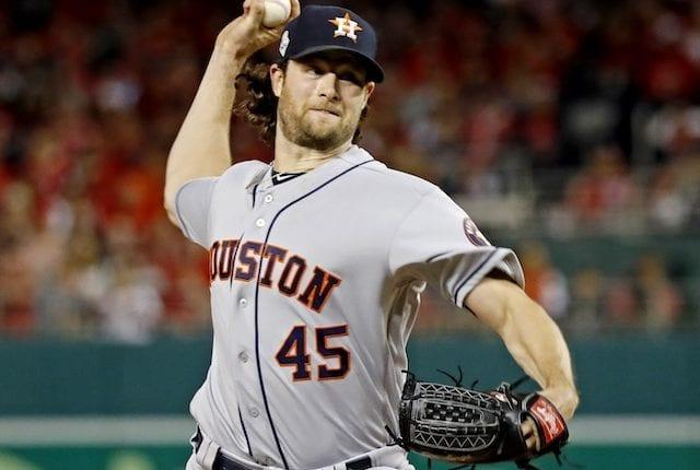 Houston Astros starting pitcher Gerrit Cole