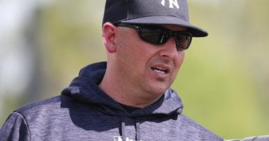 Former New York Yankees bench coach Josh Bard during 2019 Spring Training