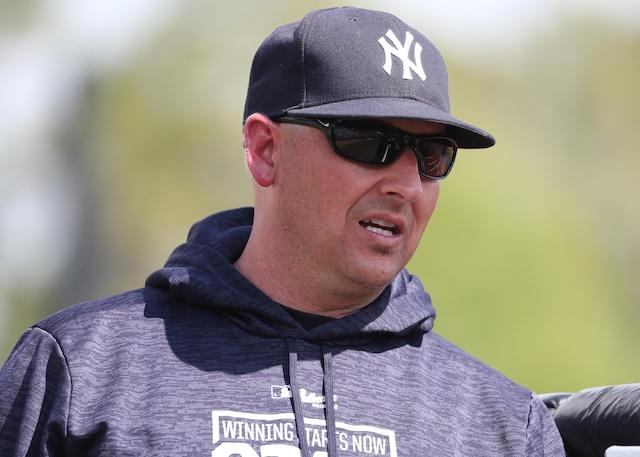 Former New York Yankees bench coach Josh Bard during 2019 Spring Training