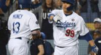 Los Angeles Dodgers teammates Max Muncy and Hyun-Jin Ryu