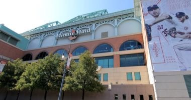 General view of the exterior of Minute Maid Park