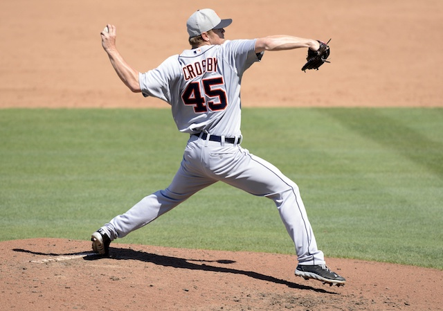 Detroit Tigers pitcher Casey Crosby