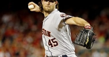 Houston Astros starting pitcher Gerrit Cole during the 2019 World Series