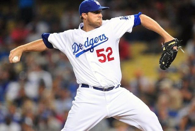 Former Los Angeles Dodgers relief pitcher Josh Lindblom
