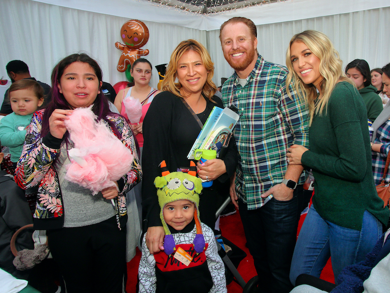 Kourtney and Justin Turner during the 2019 Winter Wonderland event at Children's Hospital Los Angeles