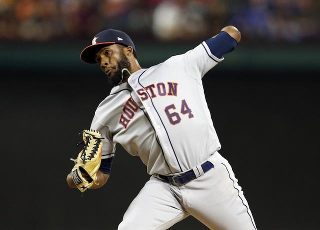 Houston Astros relief pitcher Reymin Guduan