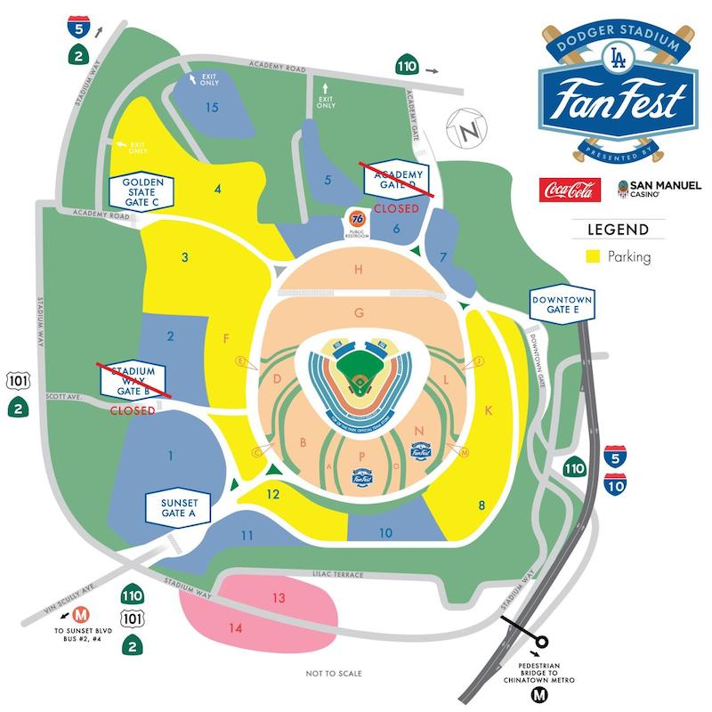 2020 Los Angeles Dodgers FanFest map