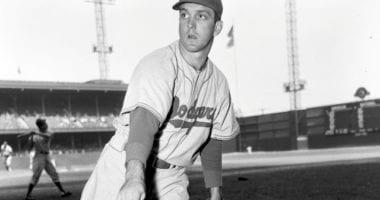 Former Brooklyn Dodgers pitcher Carl Erskine