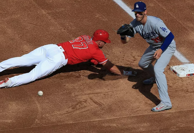 Los Angeles Dodgers All-Star Cody Bellinger and Los Angeles Angels center fielder Mike Trout