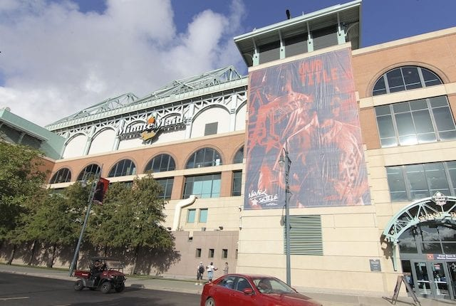 Exterior view of Minute Maid Park