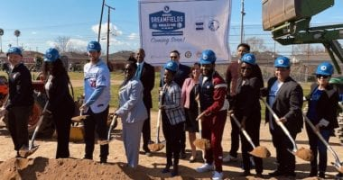 Anthony Anderson, Clayton Kershaw, Nichol Whiteman, Los Angeles Dodgers Foundation, Dodgers Dreamfields