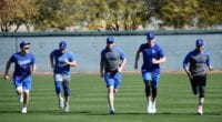 Cody Bellinger, Mookie Betts, Kiké Hernandez, Max Muncy, Justin Turner, 2020 Spring Training
