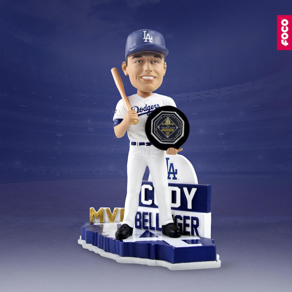 FOCO bobblehead of Los Angeles Dodgers MVP Cody Bellinger