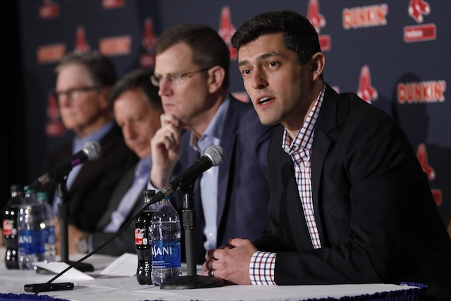 Boston Red Sox officials John Henry, Tom Werner, Samuel H. Kennedy and Chaim Bloom