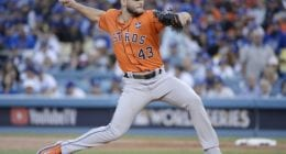 Houston Astros pitcher Lance McCullers Jr. during the 2017 World Series