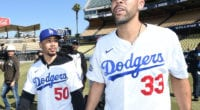 Los Angeles Dodgers teammates Mookie Betts and David Price tour Dodger Stadium