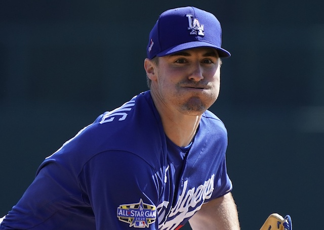 Los Angeles Dodgers pitcher Ross Stripling in a 2020 Spring Training game