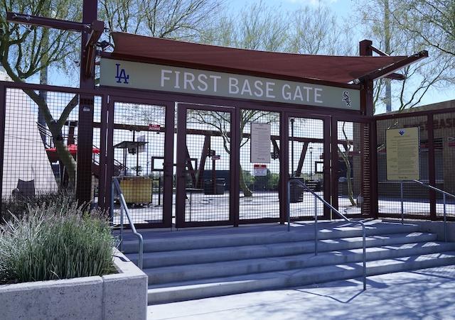 Camelback Ranch, stadium gate