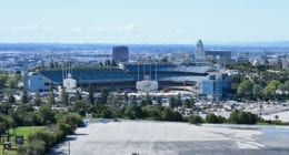 Dodger Stadium view, parking lot