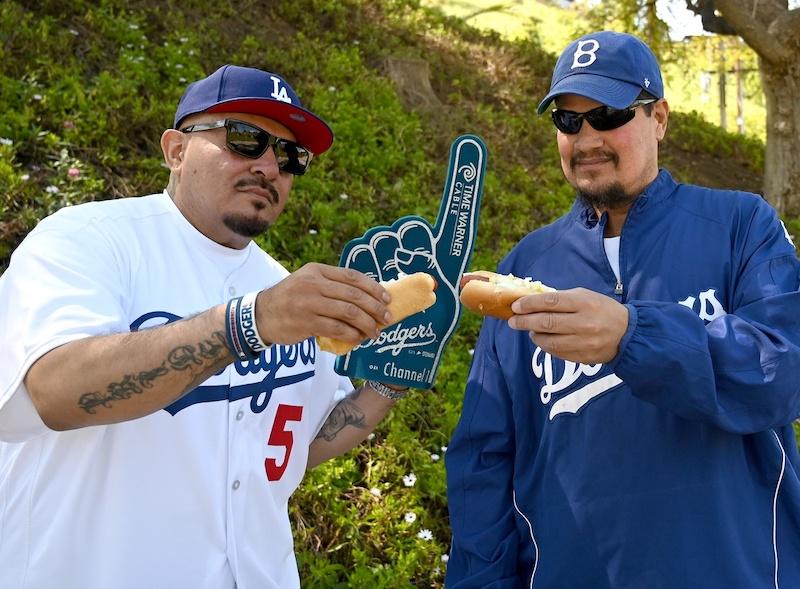 Dodgers fans, Dodger dog, 2020 Opening Day