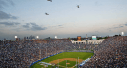Dodgers, Red Sox, Los Angeles Memorial Coliseum