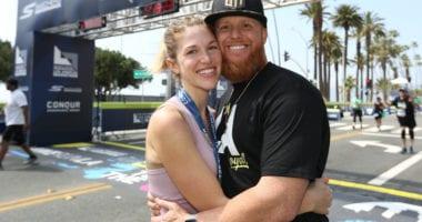 Kourtney Turner, Justin Turner, 2018 Los Angeles Marathon