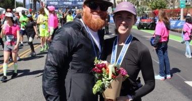 Kourtney Turner, Justin Turner, 2020 Los Angeles Marathon