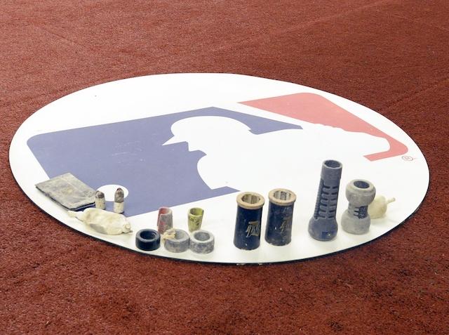 MLB logo, on-deck circle