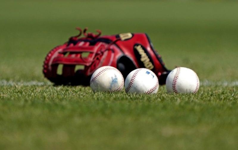 Baseballs, Wilson glove