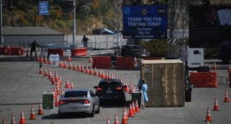 Dodger Stadium coronavirus testing site