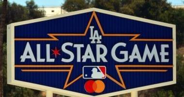 All-Star Game logo, Dodger Stadium pavilion