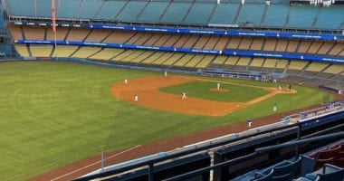 Dodger Stadium view, 2020 Spring Training
