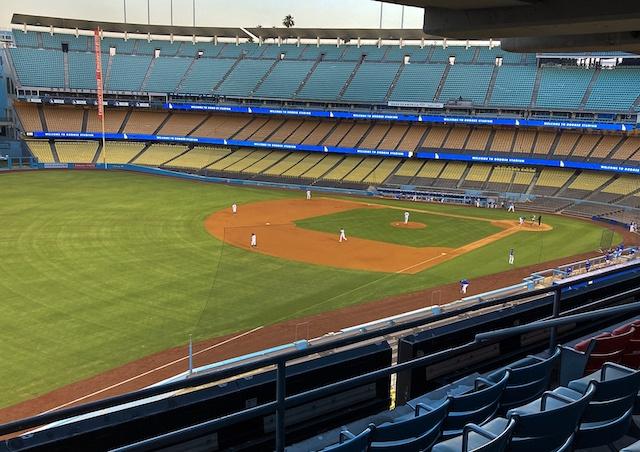 Dodger Stadium view, 2020 Spring Training