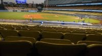 Dodger Stadium view, intrasquad game, 2020 Spring Training