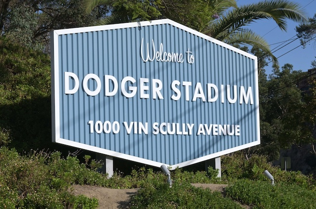 Dodger Stadium welcome sign