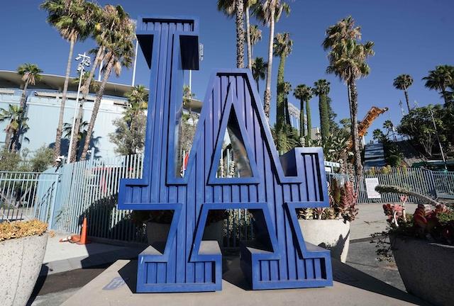 Dodgers logo, Dodger Stadium entrance