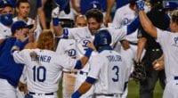 Austin Barnes, Cody Bellinger, Mookie Betts, Caleb Ferguson, Kiké Hernandez, Joc Pederson, Chris Taylor, Justin Turner, Dodgers walk-off win