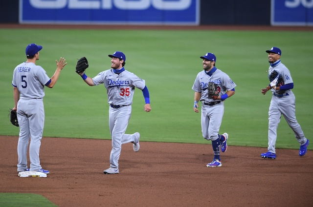 Cody Bellinger, Mookie Betts, Corey Seager, Chris Taylor, Dodgers win