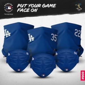 Dodgers face masks, gaiter scarves, FOCO