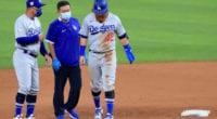 Dave Roberts, Justin Turner, Dodgers trainer