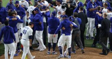 Cody Bellinger, Brusdar Graterol, Max Muncy, Edwin Rios, Dodgers win, 2020 World Series
