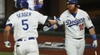Corey Seager, Justin Turner, 2020 World Series
