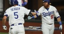 Corey Seager, Justin Turner, 2020 World Series