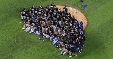 Dodgers team photo, 2020 NLDS