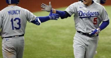 Max Muncy, Corey Seager, 2020 NLCS