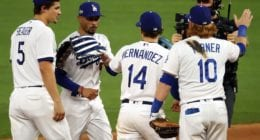 Mookie Betts, Kiké Hernandez, Corey Seager, Justin Turner, Dodgers win, 2020 NLCS